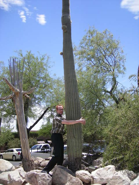 Some called me the cactus hugger!
