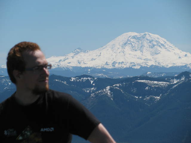 Very nice view on our friend Rainier again!